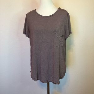American Eagle Soft & Sexy Red Striped Lounge Tee
